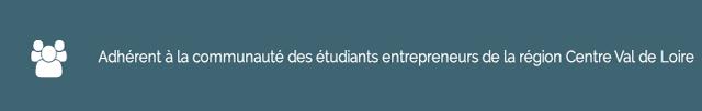 Adhérants à la communauté des étudiants entrepreneurs de la région Centre-Val de Loire