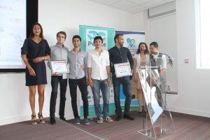 Créa Campus 2017 Prix services et commerces (ex-aequos) Hexapode et Pick N'Eat