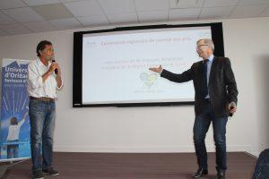 Nicolas Vanier et François Bonneau Remise des prix Créa Campus 2017